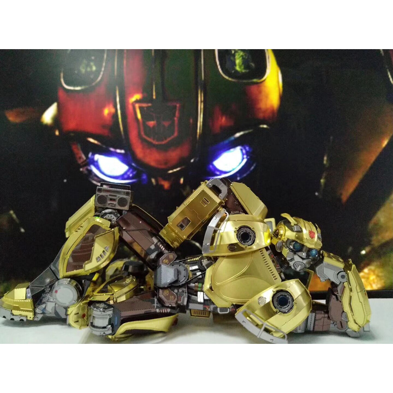 MU Transformers MOVIE OPTIMUS PRIME 3D Metal Puzzle Model Kit movable