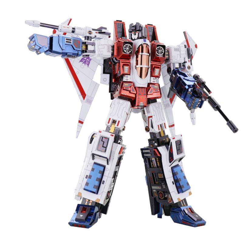 Mu Transformers G1 Starscream 3d Metal Model Kits Diy