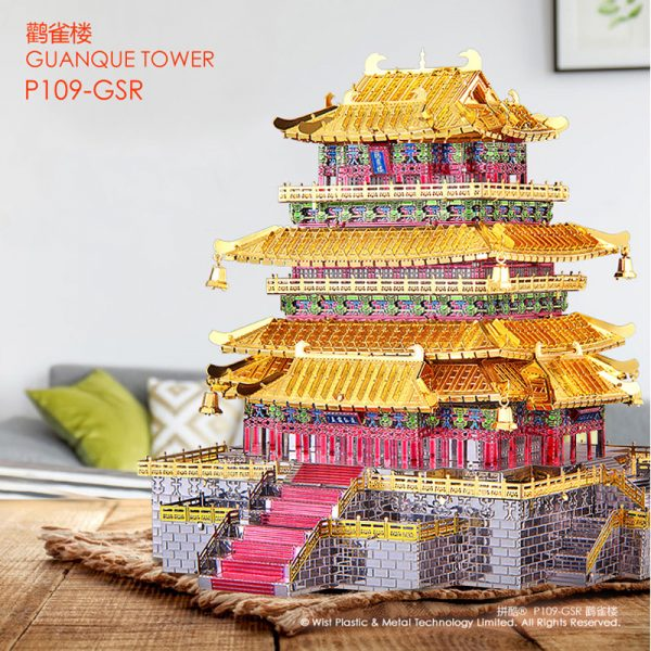 Piececool Guanque Tower Architecture